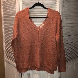 NWOT rose gold sweater